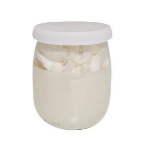 Bougie yaourt chantilly parfum coco et 100% cire végétale. Vendu par Bubulle et savon.