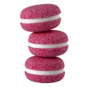 Macaron de bain effervescent parfumé vendu par bubulle et savon