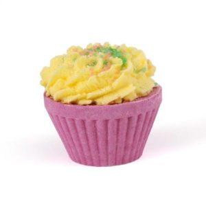 Cupcake de bain parfumé effervescent vendu par bubulle et savon