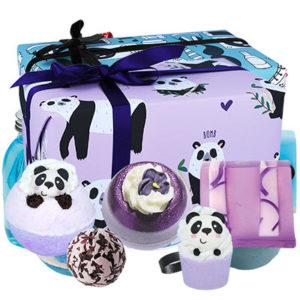 Coffret cadeau Panda bien-être, savonnerie, vendu par bubulle et savon.
